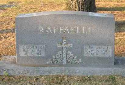 BENTLEY RAFFAELLI, MYRTLE S - Bowie County, Texas | MYRTLE S BENTLEY RAFFAELLI - Texas Gravestone Photos