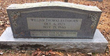 RATHBURN, WILLIAM THOMAS - Bowie County, Texas | WILLIAM THOMAS RATHBURN - Texas Gravestone Photos