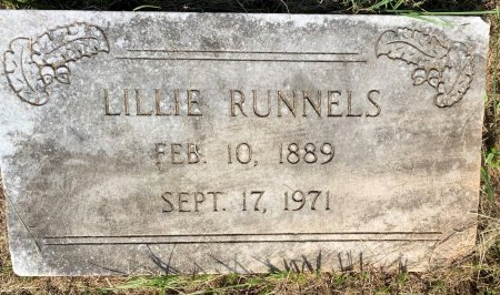 RUNNELS, LILLIE - Bowie County, Texas | LILLIE RUNNELS - Texas Gravestone Photos