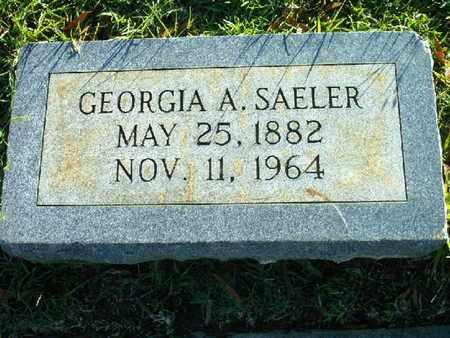 SAELER, GEORGIA A - Bowie County, Texas | GEORGIA A SAELER - Texas Gravestone Photos