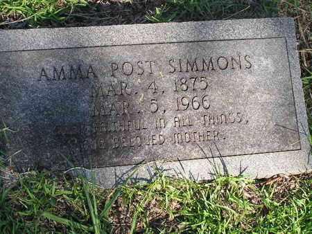 SIMMONS, AMMA - Bowie County, Texas | AMMA SIMMONS - Texas Gravestone Photos