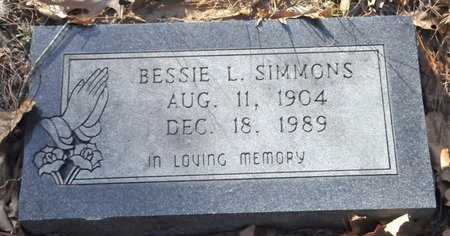 SIMMONS, BESSIE L - Bowie County, Texas | BESSIE L SIMMONS - Texas Gravestone Photos