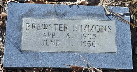 SIMMONS, BREWSTER - Bowie County, Texas | BREWSTER SIMMONS - Texas Gravestone Photos