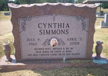 SIMMONS, CYNTHIA - Bowie County, Texas | CYNTHIA SIMMONS - Texas Gravestone Photos