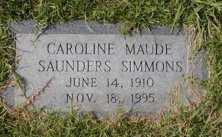 SIMMONS, CAROLINE MAUDE - Bowie County, Texas   CAROLINE MAUDE SIMMONS - Texas Gravestone Photos