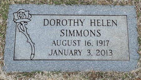 SIMMONS, DOROTHY HELEN - Bowie County, Texas | DOROTHY HELEN SIMMONS - Texas Gravestone Photos