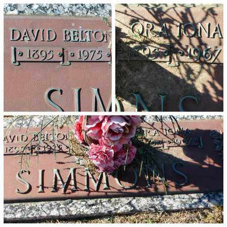 SIMMONS, ORA IONA - Bowie County, Texas | ORA IONA SIMMONS - Texas Gravestone Photos