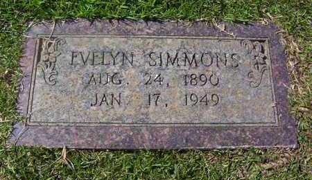 SIMMONS, EVELYN - Bowie County, Texas   EVELYN SIMMONS - Texas Gravestone Photos