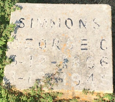 SIMMONS, GEORGE C - Bowie County, Texas | GEORGE C SIMMONS - Texas Gravestone Photos