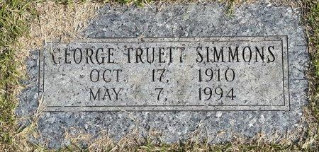 SIMMONS, GEORGE TRUETT  - Bowie County, Texas   GEORGE TRUETT  SIMMONS - Texas Gravestone Photos