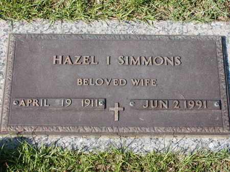 SIMMONS, HAZEL I - Bowie County, Texas | HAZEL I SIMMONS - Texas Gravestone Photos