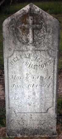 SIMMONS, HELENE M - Bowie County, Texas   HELENE M SIMMONS - Texas Gravestone Photos