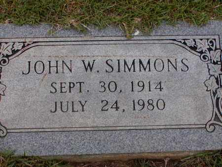 SIMMONS, JOHN W - Bowie County, Texas | JOHN W SIMMONS - Texas Gravestone Photos