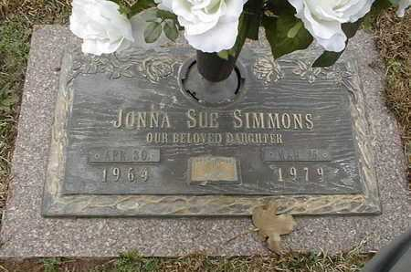 SIMMONS, JONNA SUE - Bowie County, Texas | JONNA SUE SIMMONS - Texas Gravestone Photos
