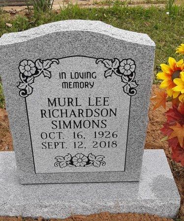 SIMMONS, MURL LEE - Bowie County, Texas | MURL LEE SIMMONS - Texas Gravestone Photos