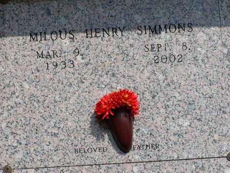 SIMMONS, MILOUS HENRY - Bowie County, Texas | MILOUS HENRY SIMMONS - Texas Gravestone Photos