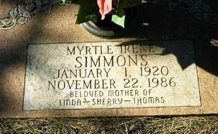 SIMMONS, MYRTLE IRENE - Bowie County, Texas | MYRTLE IRENE SIMMONS - Texas Gravestone Photos