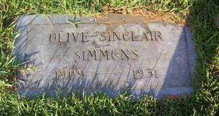 SIMMONS, OLIVE SINCLAIR - Bowie County, Texas   OLIVE SINCLAIR SIMMONS - Texas Gravestone Photos