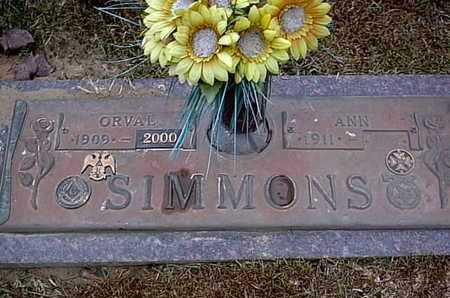 SIMMONS, ORVAL - Bowie County, Texas   ORVAL SIMMONS - Texas Gravestone Photos