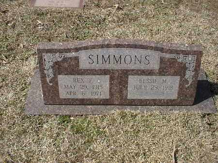 SIMMONS, REX T - Bowie County, Texas | REX T SIMMONS - Texas Gravestone Photos