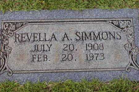 SIMMONS, REVELLA A - Bowie County, Texas   REVELLA A SIMMONS - Texas Gravestone Photos