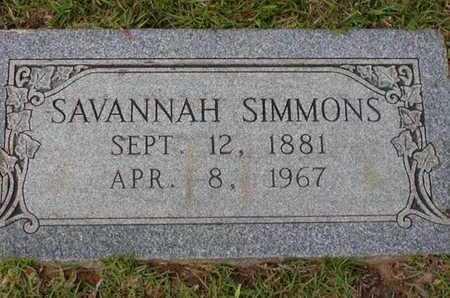 SIMMONS, SAVANNAH - Bowie County, Texas | SAVANNAH SIMMONS - Texas Gravestone Photos