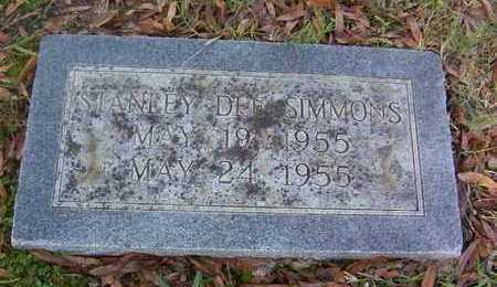 SIMMONS, STANLEY DEE - Bowie County, Texas | STANLEY DEE SIMMONS - Texas Gravestone Photos