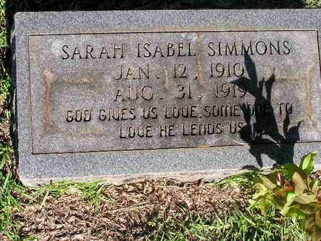 SIMMONS, SARAH ISABEL - Bowie County, Texas | SARAH ISABEL SIMMONS - Texas Gravestone Photos