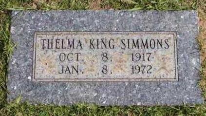 SIMMONS, THELMA - Bowie County, Texas   THELMA SIMMONS - Texas Gravestone Photos