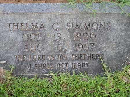 SIMMONS, THELMA C - Bowie County, Texas | THELMA C SIMMONS - Texas Gravestone Photos