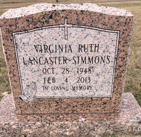 SIMMONS, VIRGINIA RUTH - Bowie County, Texas | VIRGINIA RUTH SIMMONS - Texas Gravestone Photos