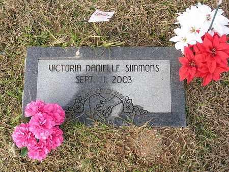 SIMMONS, VICTORIA DANIELLE - Bowie County, Texas | VICTORIA DANIELLE SIMMONS - Texas Gravestone Photos