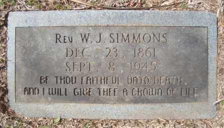 SIMMONS, W J, REV - Bowie County, Texas | W J, REV SIMMONS - Texas Gravestone Photos