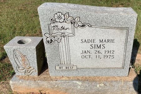 HUBBARD SIMS, SADIE MARIE - Bowie County, Texas | SADIE MARIE HUBBARD SIMS - Texas Gravestone Photos