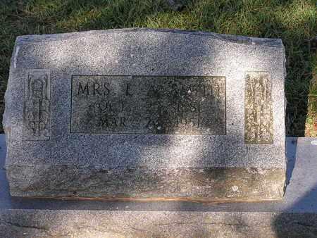 SMITH, E A, MRS - Bowie County, Texas | E A, MRS SMITH - Texas Gravestone Photos