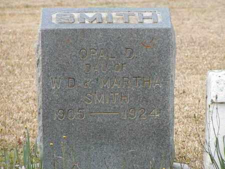 SMITH, OPAL D - Bowie County, Texas   OPAL D SMITH - Texas Gravestone Photos