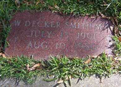 SMITH, W DECKER, MD - Bowie County, Texas | W DECKER, MD SMITH - Texas Gravestone Photos
