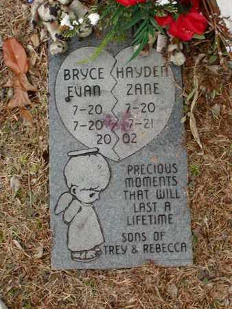 UNKNOWN, BRYCE EVAN - Bowie County, Texas | BRYCE EVAN UNKNOWN - Texas Gravestone Photos