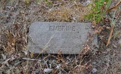 UNKNOWN, EMERINE - Bowie County, Texas   EMERINE UNKNOWN - Texas Gravestone Photos