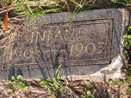 UNKNOWN, INFANT - Bowie County, Texas | INFANT UNKNOWN - Texas Gravestone Photos