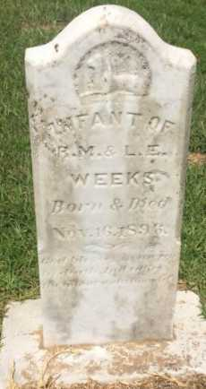 WEEKS, INFANT - Bowie County, Texas | INFANT WEEKS - Texas Gravestone Photos