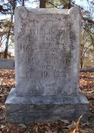 WEEKS, WILLIS M - Bowie County, Texas | WILLIS M WEEKS - Texas Gravestone Photos