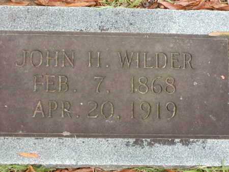 WILDER, JOHN H - Bowie County, Texas | JOHN H WILDER - Texas Gravestone Photos