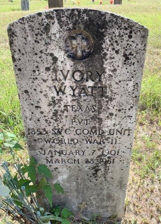 WYATT (VETERAN), IVORY - Bowie County, Texas | IVORY WYATT (VETERAN) - Texas Gravestone Photos