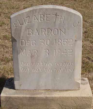 BARRON, ELIZABETH J - Callahan County, Texas | ELIZABETH J BARRON - Texas Gravestone Photos