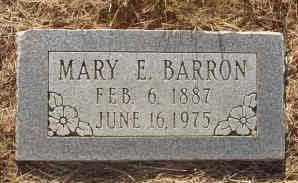 BARRON, MARY E - Callahan County, Texas | MARY E BARRON - Texas Gravestone Photos