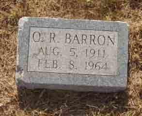 BARRON, O R - Callahan County, Texas | O R BARRON - Texas Gravestone Photos