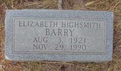 BARRY, ELIZABETH - Callahan County, Texas | ELIZABETH BARRY - Texas Gravestone Photos