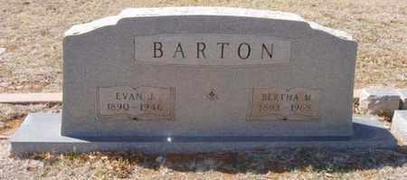 BARTON, EVAN J - Callahan County, Texas | EVAN J BARTON - Texas Gravestone Photos
