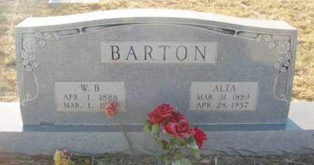 THARP BARTON, ALTA - Callahan County, Texas   ALTA THARP BARTON - Texas Gravestone Photos